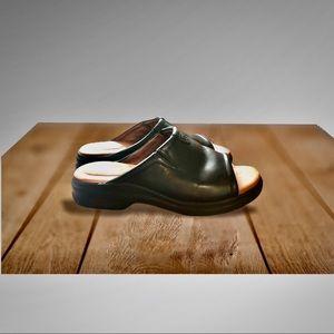 Ariat Black Bridgeport leather slide/ Mules sandal